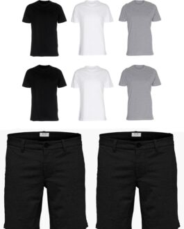 2 stk. Performance Shorts + 6 Stk. T-shirts
