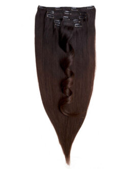 Clip-on Set Original 7 pieces O1.2/2.0 Black Brown Ombre 50 cm