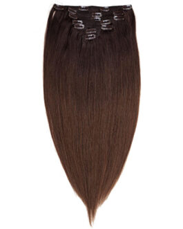 Clip-on Set Premium 7 pieces O2.3/5.0 Chocolate Brown Ombre 50 cm
