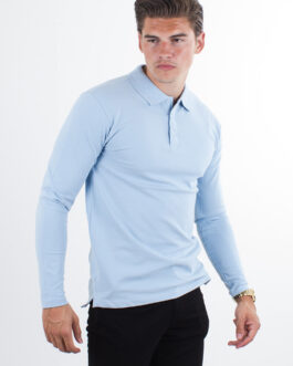 Performance Polo Shirt L/S – Hellblau