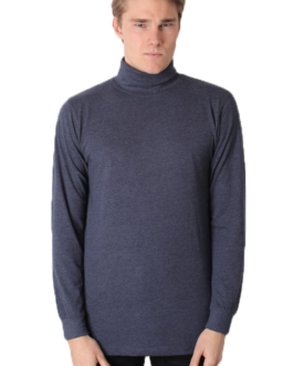 Turtleneck – Meliertes Blau