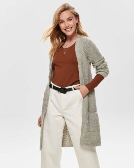 Bernie langärmliger Cardigan – Light grey melange