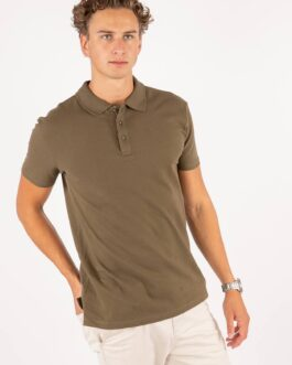 Muscle Polo Shirt – Olive