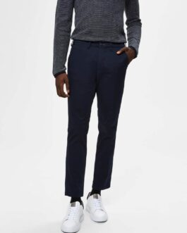 Performance chino pant – Navy (økologisk bomuld)