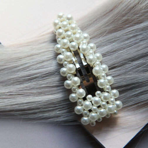 Trendige Haarspange mit Perlen Pearl Collection no. 10